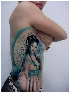 Geisha Tattoos Designs: Beautiful Geisha Tattoo Design ~ Cvcaz Tattoo Art Ideas ~ Tattoo Design Inspiration