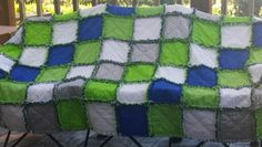 Rag quilt -Seahawks colors