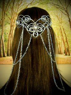 Elven Coronation Circlet Celtic Hand Wire by RefreshingDesigns Head Jewelry, Wire Jewelry, Handmade Jewelry, Jewellery, Celtic, Wire Crown, Elfa, Queen Art, Arwen