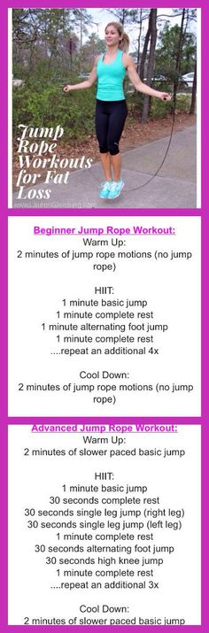 2 JUMP ROPE EXERCISES FOR FAT LOSS - BEGINNER & ADVANCED VERSIONS | Click image for full workout guide