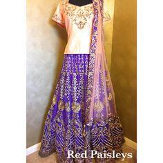 Purple peach fusion lehenga   For enquiries  Info@redpaisleys.com  469.248.7733