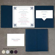 Filigree Edges - Pocket Invitation