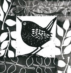 Little Bird 3 - Angie Mitchell Linocut Prints, Art Prints, Block Prints, Lino Art, Impression Textile, Linoleum Block Printing, Linoprint, Desenho Tattoo, Stamp Printing