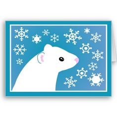 Winter ferret greetings greeting card from http://www.zazzle.com/ferret+christmas+cards