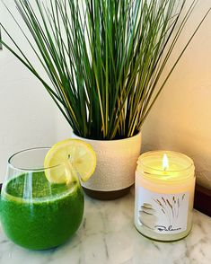 Enjoying a Green Smoothie and a Sea Salt & Orchid Balance Soy Candle at Zen Life Home. Shop Zen Life Home on Etsy. Soy Candles, Candle Jars, Unique Candles, Sea Salt, Aromatherapy, Orchid, Smoothie, Zen, Etsy Seller