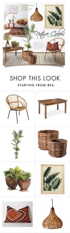 """""""Inspired by Nature Decor"""" by alexandrazeres ❤ liked on Polyvore featuring interior, interiors, interior design, home, home decor, interior decorating, Jeffan, Threshold, Improvements and Eichholtz"""