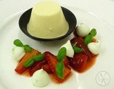 Vanilla panna cotta with strawberry #catering #events #leicestershirefood #xclusive