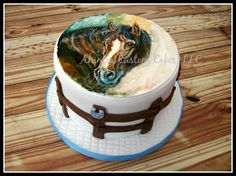 Hand painted horse cake - Cake by Ahimsa