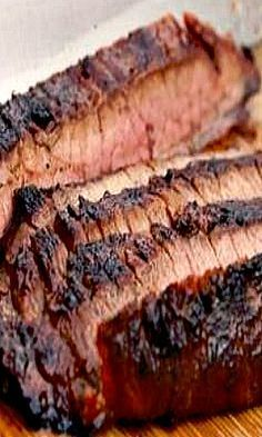 Steakhouse-Style Grilled Marinated Flank Steak Recipe minus the anchovies Marinated Flank Steak, Flank Steak Recipes, Beef Steak, Skirt Steak Recipes, Grilling Recipes, Meat Recipes, Cooking Recipes, Water Recipes, Carne Asada