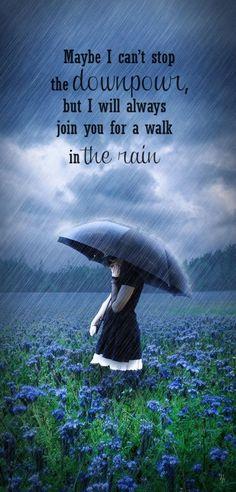 I'll always join you for a walk in the rain!  We won't melt!   I LOVE #RAIN!!!  #umbrella