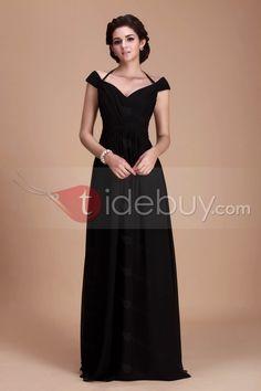 Aラインオフショルダー床長さのブライズメイドドレス