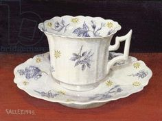 "Galley - ""Cup and saucer with blue flower sprigs"" (1995)"