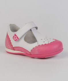 Pink & White T-Bar Shoes - Infant & Toddlers