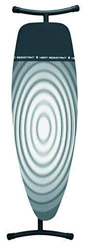 Brabantia Titan Oval Ironing Board with Iron Parking Zone, Size D, Extra Large - Grey Swirl Cover
