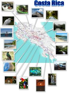 Free printable Costa Rica map download. Helpful for planning over view and quick easy reference when there's no signal for your devices