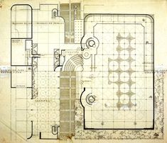 """""""Anybody can build a typical building. I wanted to build the best office building in the world, and the only way to do that was to get the greatest architect in the world',H. Frank Lloyd Wright, Johnson Wax, Photoshop, Workplace Design, Organic Architecture, Classic House, Building Plans, Line Drawing, Floor Plans"""