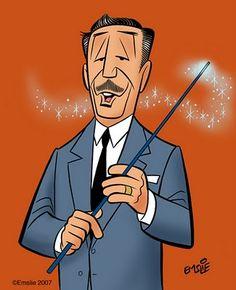 [ Walt Disney ]- artist: Pete Emslie - website: http://cartooncave.blogspot.com/