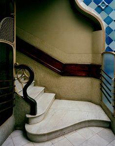 art noveau bottom of stairs