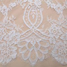 Tecido renda chantilly cordonê branca