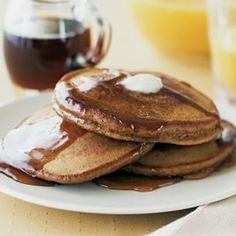 Gingerbread Pancakes | Williams-Sonoma   Add cinnamon butter!