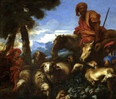 Abraham Journeying to the Land of Canaan - Giovanni Castiglione - The Athenaeum