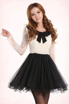 Mango Doll - Sweet Black and White Lace Dress , $42.00 (http://www.mangodoll.com/all-items/sweet-black-and-white-lace-dress/)