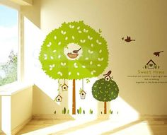 Tree Wall Sticker Kid Wall Decal Sweet home wall by ChinStudio, $68.00