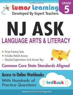 169 best homeschooling books i want images on pinterest nj ask practice tests and online workbooks grade 6 language arts and literacy third edition common core state standards njask 2014 fandeluxe Image collections