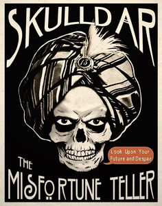 * Skulldar The Misfortune Teller Dark Macabre Psychobilly Art Print ~ Shop: TigerHouseArt *