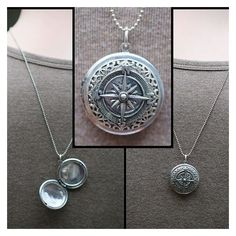 MENS Locket compass necklace/ ball or link chain. Mans Graduation gift... ❤ liked on Polyvore featuring men's fashion, men's jewelry, men's necklaces, mens locket, mens ball chain necklace, mens locket necklace, mens cuban link chain and mens watches jewelry