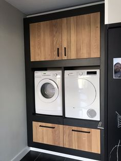 Cupboard for washing machine and dryer utility room laundryroom mudroom washok Laundry Closet, Laundry Room Storage, Small Laundry, Laundry In Bathroom, Laundry Room Cabinets, Laundry Cupboard, Laundry Room Inspiration, Washing Machine And Dryer, Laundry Room Design