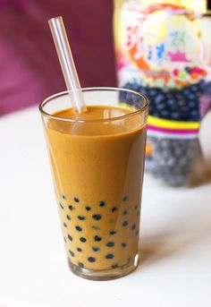 Vietnamese Coffee Boba Drink | To find where to get Tapioca Pearls and Straws see my: It's Tea Time Board.