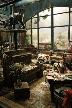 Jim Ronan Sévellec's Studio Art Studio Room, Art Studio Design, Home Studio, Design Art, Studios D'art, Atelier D Art, Dream Studio, Carpe Diem, House Design