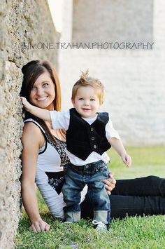 Mommy and me / 1 year old boy photography