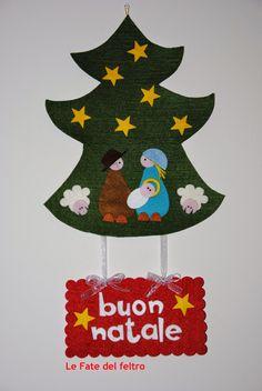 fuoriporta natalizio in feltro Le Fate del feltro: Buon Natale