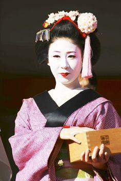 Maiko Mameteru (now retired) of Gion Kobu