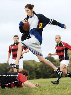 Hilary Rhoda by Sebastian Kim for Self Magazine December 2014 #rugby #sports #athletes