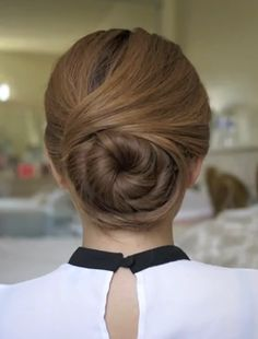 Cute Wedding Updos for Long Hair: The Twisted Bun Updo (Tutorial) - Easy Girls Hairstyles