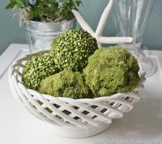 Green Decorative Balls Crafts  Diy Moss Balls Tutorial  Made W Styrofoam Balls
