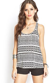 Crossback Tribal Print Top | FOREVER 21 - 2000061875