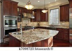 Ways To Choose New Cooking Area Countertops When Kitchen Renovation – Outdoor Kitchen Designs Outdoor Kitchen Countertops, Kitchen Countertop Materials, Granite Kitchen, Kitchen Backsplash, Granite Countertops, Kitchen Island, Dark Counters, Backsplash Ideas, Outdoor Kitchen Design