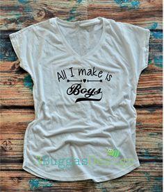 BOY MOM shirt/All I make is boys/mom of boys/Raising my tribe shirt/ mama bear shirt/mom life is best/mothers day gift/ by 3BuggasDesign on Etsy