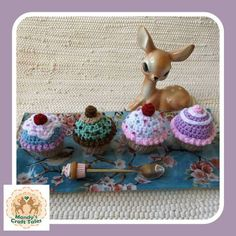 These crochet cupcakes are the perfect pretend play item for your little girl. Perfect for a kids gift. Crochet Cupcake, Cupcake Cupcake, Pretend Food, Play Food, Pretend Play, Crochet Mandala, Crochet Doilies, Fake Cupcakes, Princess Tea Party