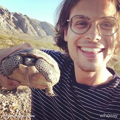 gublernation:  ran into an old friend today View more Matthew Gray Gubler on WhoSay