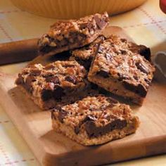 Chunky Pecan Bars.  One of my favorite Thanksgiving treats