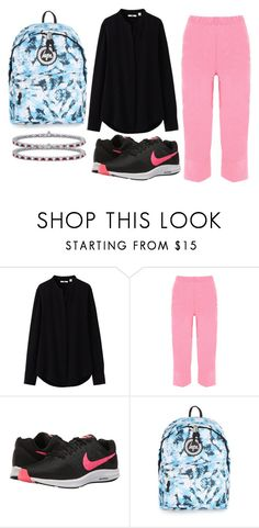 """Simply outfit. Today outfit"" by emah-alas ❤ liked on Polyvore featuring Uniqlo, WearAll, NIKE, Topman and Blue Nile"