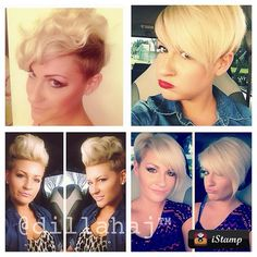 Side cut short blonde hair / .@dillahaj | Just wanted to show the versatility of a good #haircut and a #creative mind.