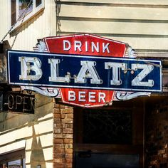 "Item Description: Original Photograph, by Joan Schulte, entitled, ""Blatz."" This image is of a vintage neon and metal Blatz Beer sign, the image was taken in Milwaukee, Wisconsin, the birthplace of Blatz - the first beer to be bottled in Milwaukee and sold internationally. This image transfer on reclaimed wood would be a great addition to the gallery wall or beer cave of a beer lover or a Milwaukee native.     This photo has been enhance with photo filter (that Joan created) that gives the…"