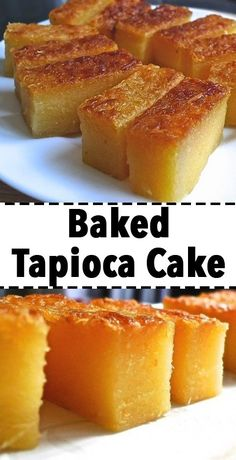 This traditional cassava (tapioca) cake is semi-soft, chewy and fragrant. It has an inviting aroma from the screw pine leaves (pandan leaves), eggs and coconut milk. Just perfect for tea-time snack or Pinoy Dessert, Filipino Desserts, Asian Desserts, Filipino Food, Hawaiian Dessert Recipes, Easy Filipino Recipes, Guyanese Recipes, Pinoy Food, Tapioca Cake