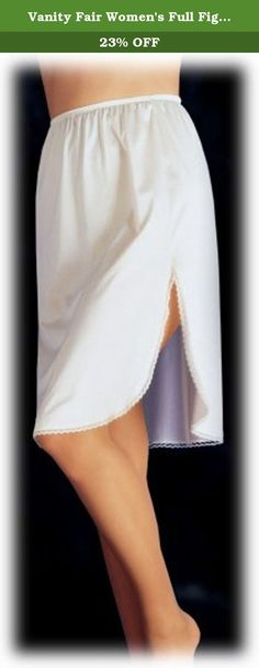 Vanity Fair Women's Full Figure 360° Half Slip 11860, Star White, X-Large/18 Inch. Versatile half slip with slit that can be worn in the front, back or on the side.